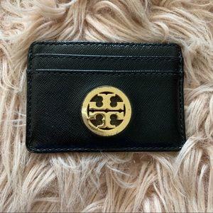 Tory Burch Black w Logo Credit Card Wallet